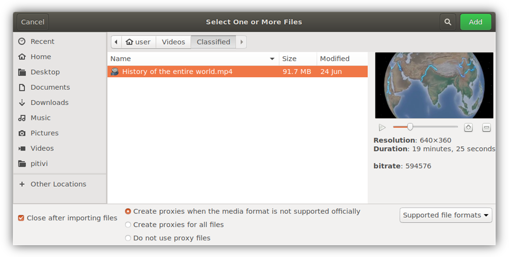 Old Import Dialog